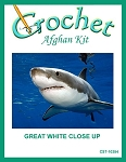 Great White Close Up Crochet Afghan Kit